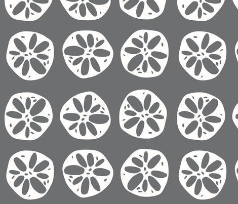 large gray lotus root fabric by clearlytangled on Spoonflower - custom fabric