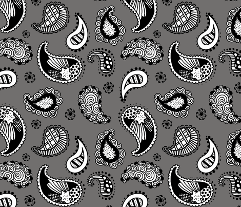 paisley fabric by renule on Spoonflower - custom fabric