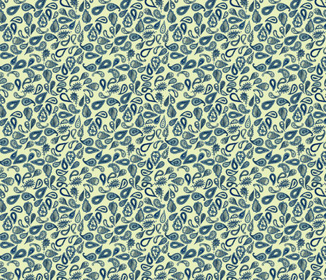 India Ink Paisley fabric by leighr on Spoonflower - custom fabric