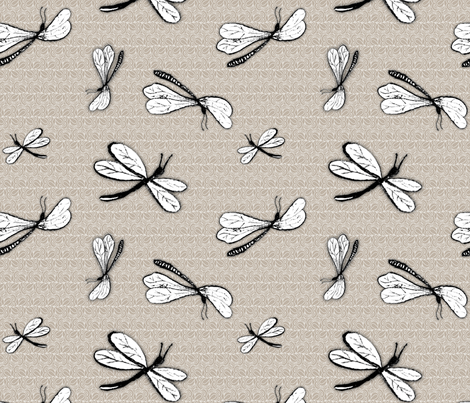 dragonflies fabric by renule on Spoonflower - custom fabric