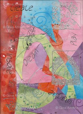 Fabric-collage