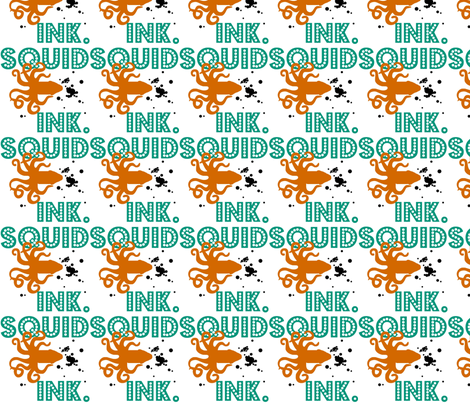 Sea-Writer, Squid Ink! fabric by bee_smiles on Spoonflower - custom fabric