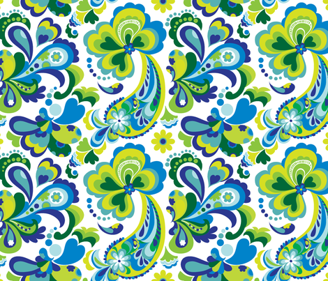 Hot Summer Paisley_fabric fabric by chulabird on Spoonflower - custom fabric