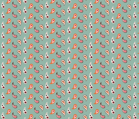 Paisley elephant drops fabric by bora on Spoonflower - custom fabric