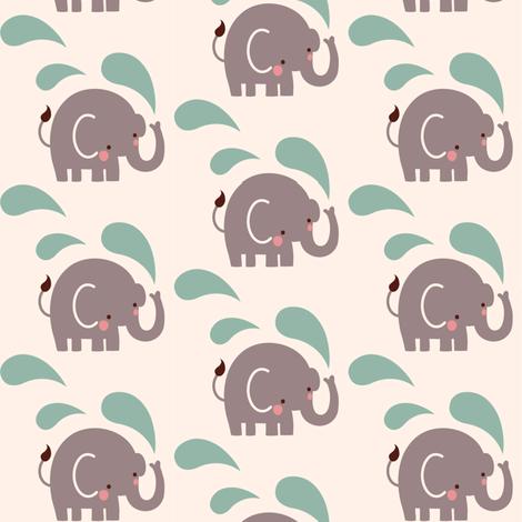 Paisley elephant repeat fabric bora spoonflower for Elephant fabric