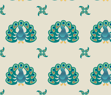 paisley peacock fabric by greenmyeyes on Spoonflower - custom fabric