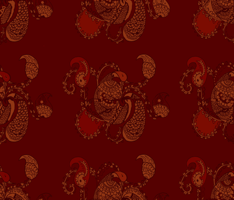 paisley fabric by indesign on Spoonflower - custom fabric