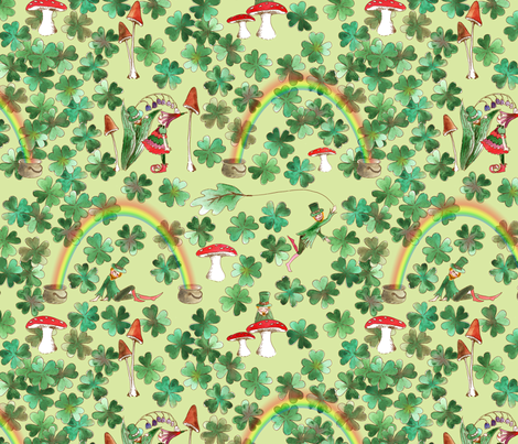 a_moi_la_fortune_ fabric by nadja_petremand on Spoonflower - custom fabric
