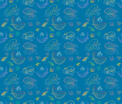 Paisley Sea fabric by whatsit on Spoonflower - custom fabric
