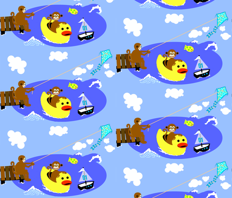 monkey island / things that float fabric by paragonstudios on Spoonflower - custom fabric