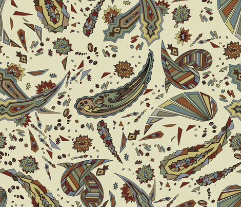 paisley fabric by missbeeks on Spoonflower - custom fabric