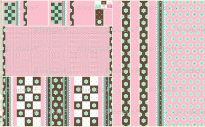Checkerboard Tote - Fairy Floss - flexible kit plus bonus