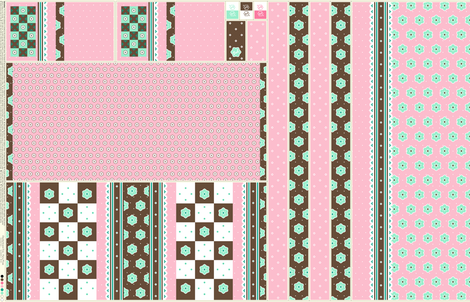 Checkerboard Tote - Fairy Floss - flexible kit plus bonus fabric by inscribed_here on Spoonflower - custom fabric