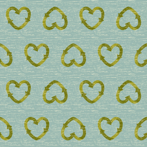 Reduce Reuse and Recycle Hearts fabric by saraink on Spoonflower - custom fabric