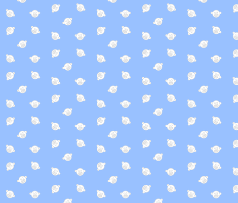 monkey faces cloud fabric by paragonstudios on Spoonflower - custom fabric
