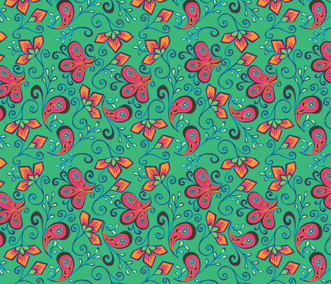 Paisley_dété fabric by missvautour_ on Spoonflower - custom fabric