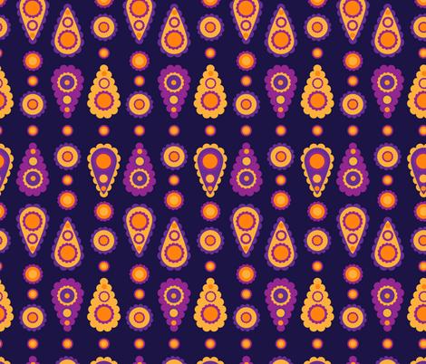 folky paisley fabric by mondaland on Spoonflower - custom fabric