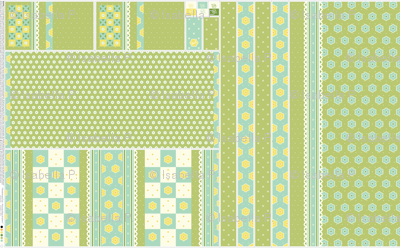 Checkerboard Tote - Victorian Green and Lemon - flexible kit plus bonus