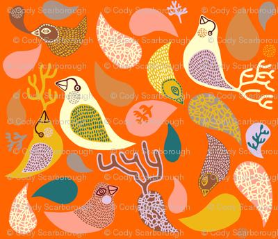 birds in paisley