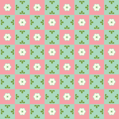 Checkerboard Leaf - Victorian Rose fabric by inscribed_here on Spoonflower - custom fabric