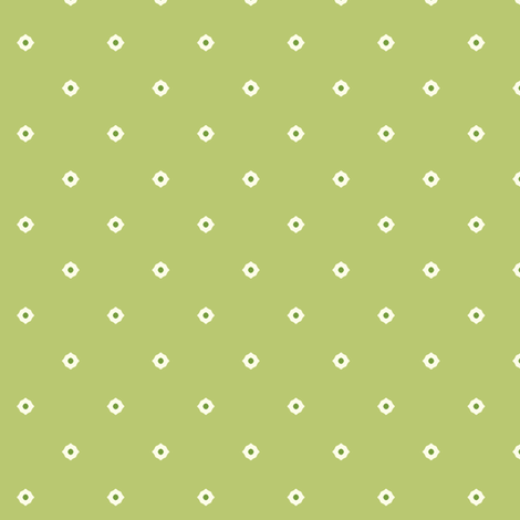Dot Floral - Victorian Green fabric by inscribed_here on Spoonflower - custom fabric