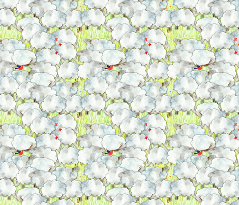 123 moutons fabric by nadja_petremand on Spoonflower - custom fabric