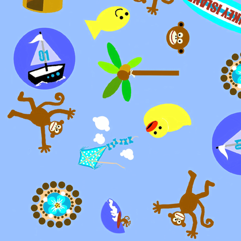 monkey island fun fabric by paragonstudios on Spoonflower - custom fabric