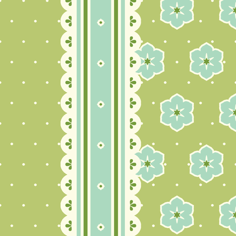 Border Ribbon - Victorian Green