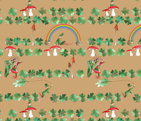Leprechan_fantaisie fabric by nadja_petremand on Spoonflower - custom fabric