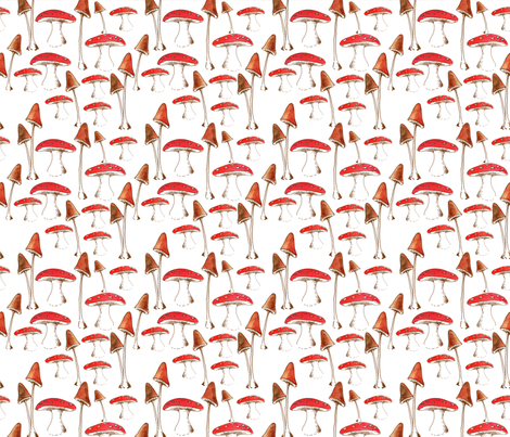 champignon_set fabric by nadja_petremand on Spoonflower - custom fabric
