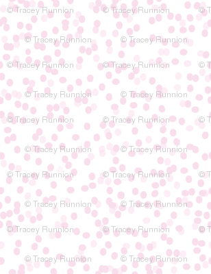 "CONFETTI DOT in ""PINKY"" on WHITE"
