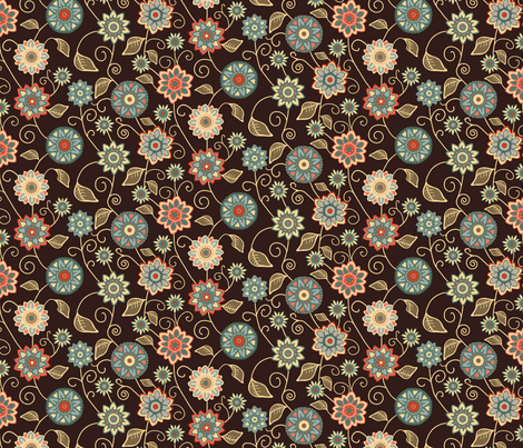 Tumbling Flowers  fabric by kezia on Spoonflower - custom fabric