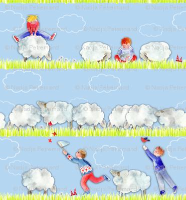 123 saute les mouton dans les nuages