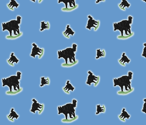 Herding Belgian Sheepdogs - blue fabric by rusticcorgi on Spoonflower - custom fabric