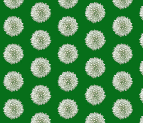 Green Dandelion  fabric by nezumiworld on Spoonflower - custom fabric
