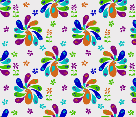 My Little Paisley Peacock fabric by kdl on Spoonflower - custom fabric