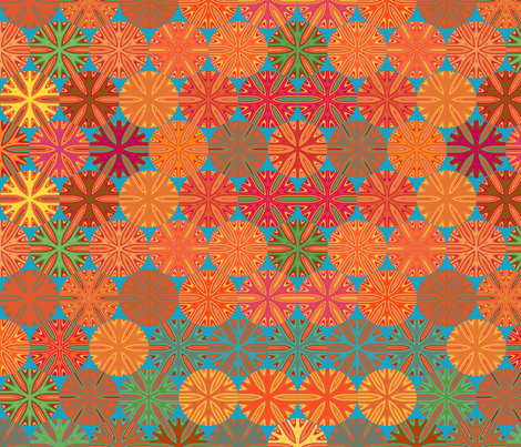 Citrus Slices Geometric in  blue large © 2011 Gingezel™ Inc. fabric by gingezel on Spoonflower - custom fabric