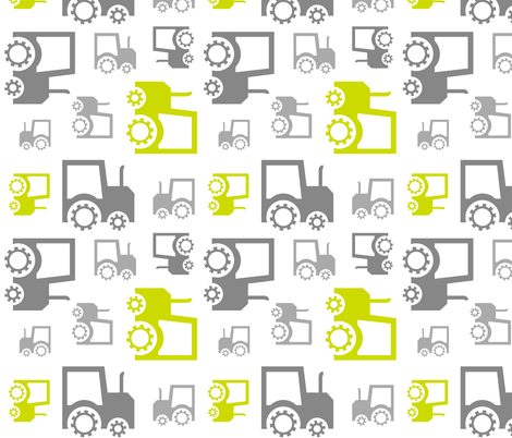 Tractors fabric by newmom on Spoonflower - custom fabric
