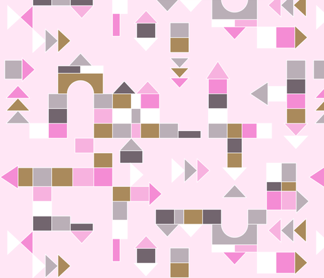 Building Blocks Pink fabric by newmom on Spoonflower - custom fabric