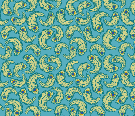 peacock paisley fabric by minimiel on Spoonflower - custom fabric