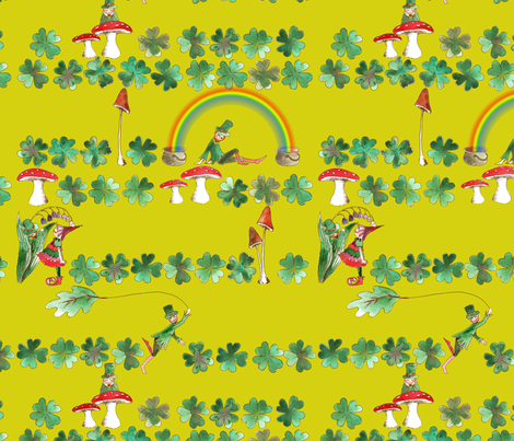 Leprechaun_fantaisy_vert fabric by nadja_petremand on Spoonflower - custom fabric