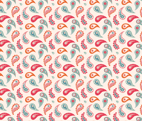 Fun bathtime for little Elley- paisleys fabric by bora on Spoonflower - custom fabric