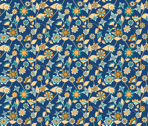 Folk Floral 2 fabric by kezia on Spoonflower - custom fabric