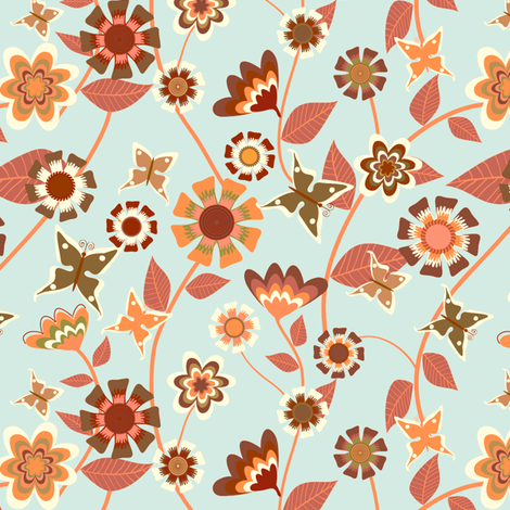 Folky Floral fabric by kezia on Spoonflower - custom fabric