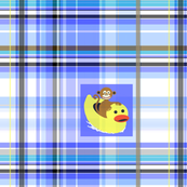 monkey ducky_plaid