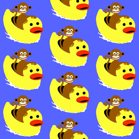 monkey ducky fabric by paragonstudios on Spoonflower - custom fabric
