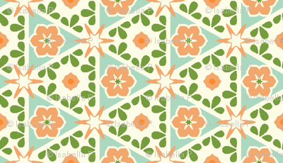 Cream Pyramid Floral - Victorian Apricot