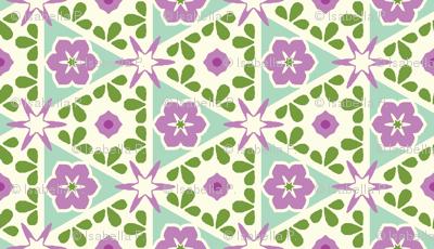 Cream Pyramid Floral - Victorian Violet