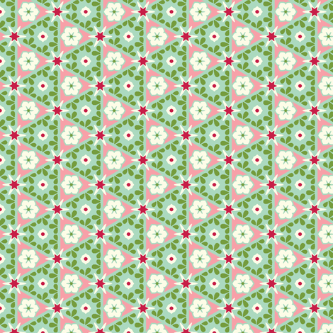 Pyramid Floral - Victorian Rose fabric by inscribed_here on Spoonflower - custom fabric