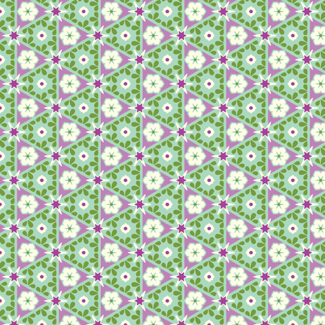 Pyramid Floral - Victorian Violet fabric by inscribed_here on Spoonflower - custom fabric